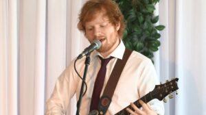 Ed Sheeran sings to newlywed couple
